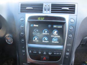 Lexus GS 300 Меню